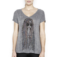 April Color Hippie Oversized V-Neck Draped Tee - Gifts Under $100 - SHOP