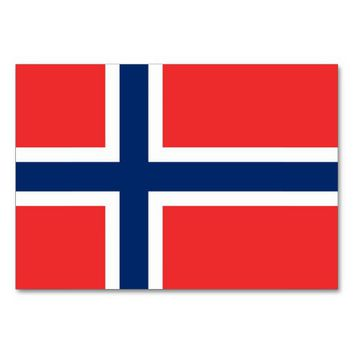 Patriotic table card with Flag of Norway