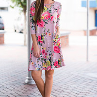 Looking For Love Dress, Mauve