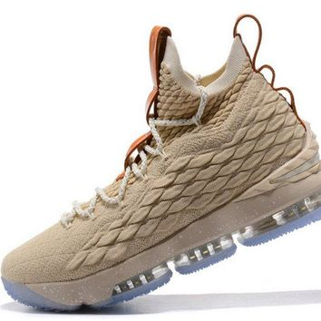 2018 Discount Nike LeBron 15 XV EP Ghost String Vachetta Tan-Sail2018 Mens Basketball Sneakers 897648-200 Brand sneaker