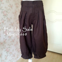 Women Pants Trousers. Casual Summer Pants Linen Pants Crop Pants. Oversized Pants Linen Trousers Harem Pants Drop Crotch Pants -MP003