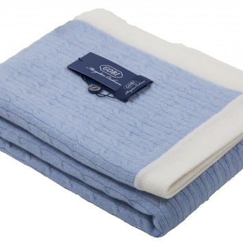 GOBI Mongolian Cashmere Baby Blanket in Blue Gray 39 x 39 inches