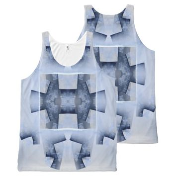 Fractal pattern All-Over-Print tank top