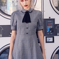 Cosette Dress (Blue Plaid)