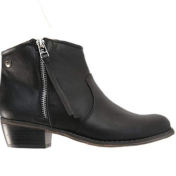 Breckelle's DORADO-11 Western Inspired Zip up Ankle Boot Bootie Size 9 Black