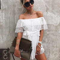 Summer Lace Sexy Ladies One Piece Dress [11577849679]