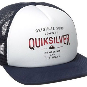 Quiksilver Men's Sanders Trucker Hat, White, One Size