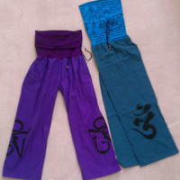 Yoga Prayer Pants, with Roll-Down-Top