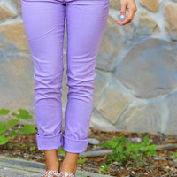 What A Girl Wants Pants: Lavender | Hope's