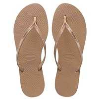 Havaianas You Metallic - Rose Gold Metallic EVA Flip-Flop
