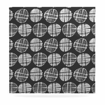"Gill Eggleston ""Sketched Pods Carbon"" Black White Abstract Modern Digital Vector Luxe Square Panel"