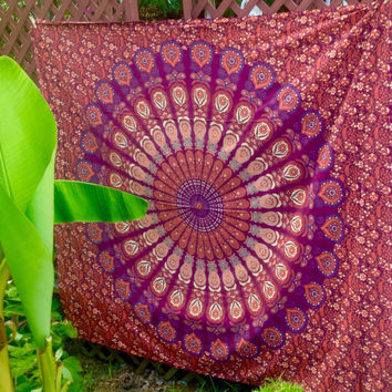 Mandala Wall Hanging Tapestry Beach Towel Round Boho Hippy Junk Gypsy Wedding Backdrop Graduation Birthday Bridesmaid Gift Throw Blanket