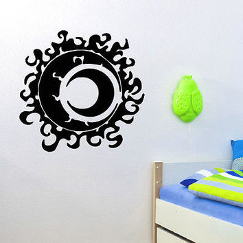 WALL DECAL VINYL STICKER SUN AND MOON DUET SYMBOL ETHNIC DECOR SB803