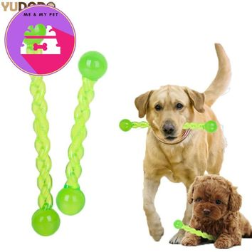 Non-toxic Dog Teeth Stick TRP Crystal Translucent Tooth Treating Stick Dog Teeth Cleaning Chew Play Pet Training Toy