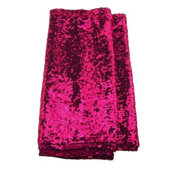 Sparkling Sequins Fabric Table Runner, 14-Inch x 108-Inch, Fuchsia