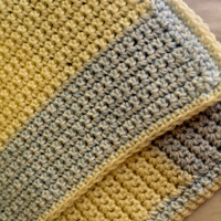 Striped Crochet Baby Blanket