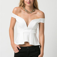 V-Neck Off Shoulder Top (more colors)