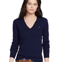 Polo Ralph Lauren Cable Knit V Neck Sweater