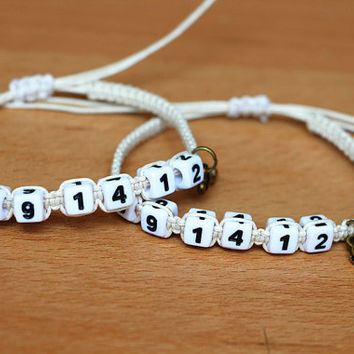 Couples Bracelets Set,  Save the Date Couples Bracelets, Gay Lesbian Bracelets, Anniversary Gift, Personalized Birthday