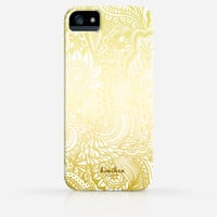 Full Zentangle Gold Silver Copper Rainbow Sun Pattern iPhone 4 Case, iPhone 4s Case, iPhone 5 Case, iPhone 5s Case, iPhone Hard Plastic Case