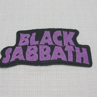 Iron on patch. Black Sabbath patch