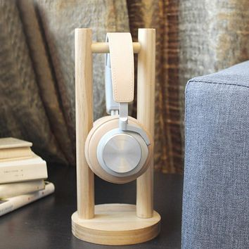 Vococal Universal Wood Wooden Headphone Stand Headset Holder Earphone Display Rack for Bose Beats Sony Philips JVC Gaming DJ