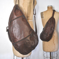 Brown Sling Body Bag / Leather Purse