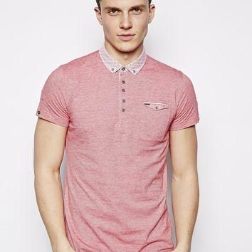Guide London Polo Shirt With Gingham Collar