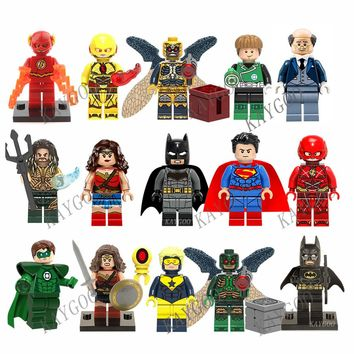 Single Sale Justice League Movie Super Heroes Figures Avengers Model Building Blocks Batman Wonderwoman Aquaman Cyborg Superman