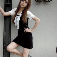 Black and White Oxford Dress