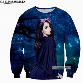 Newest fashion hoodie men/women sweatshirt Singer Lana Del Rey 3D printed sweatshirts Long sleeve hip hop streetwear casual tops