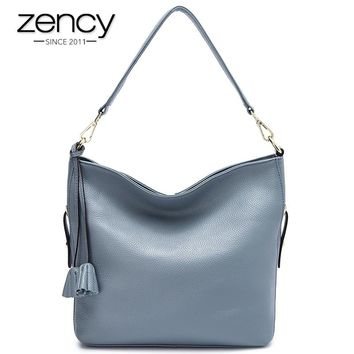 7 Colors 100% Genuine Leather Super Handbag Women Shoulder Bag Casual Tote Fashion Ladies Messenger High Quality Hobos