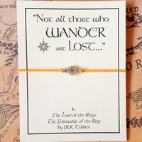 Lord of the Rings Bracelet | Not All Those Who Wander Are Lost | Tolkien Quote | Bracelet with Card | Friendship Gift