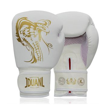 10oz PU Dragon Boxing Glove Kungfu Wushu Takewondo Mens Sandbag Training Women MMA Sanda Gloves