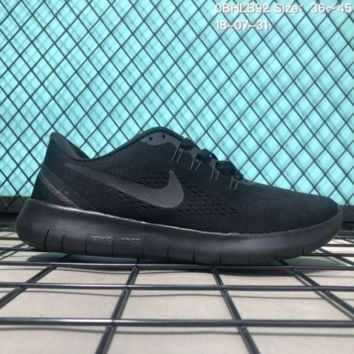 DCCK N155 Nike Air Free 5.0 Flyknit Breathable Causal Running Shoes Sneaker Black