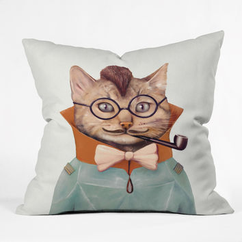 Animal Crew Eclectic Cat Throw Pillow