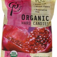 GoOrganic Pomegranate Gluten Free Hard Candies, 3.5-Ounce Bags (Pack of 6)