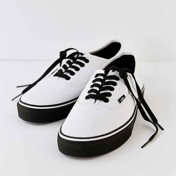 Vans Authentic Black Sole Men's Sneaker- White