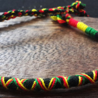 Thai Handmade Braided Round String Friendship Bracelet Rasta