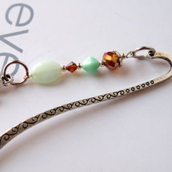 Turtle Bookmark - Tibetan Silver Stationary Literary Gift, Unique Beaded Metal Bookmark, Teacher Gifts, Turtle Gifts, Gift for Book Club