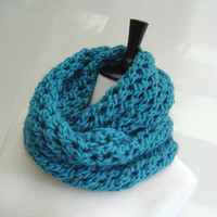 Cowl Infinity Scarf KNITTING PATTERN for Beginners PDF Digital Delivery