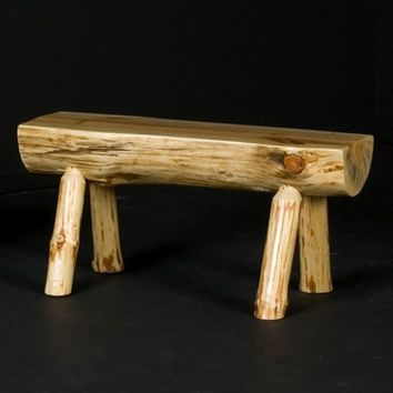 Viking Log Half Bench