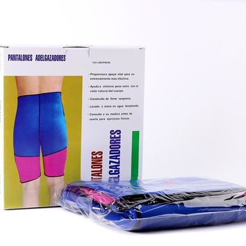 Fitness women neoprene pants exercise  workout support body slimming shorts free shipping #091