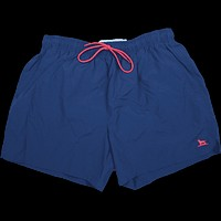 The Dock Dog Swim Trunk in Navy w/ Red Trim by Over Under Clothing