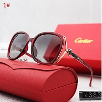 Cartier Popular Personality Summer Style Sun Shades Eyeglasses Glasses Sunglasses 1# Red I12571-1