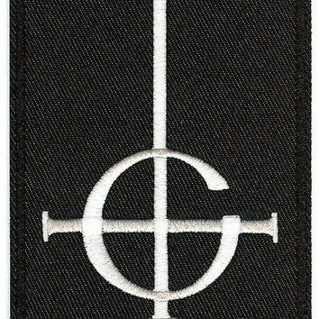 Ghost Iron-On Patch Rectangle Cross Logo