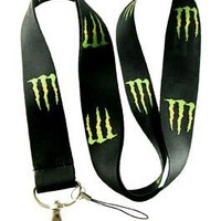 Brand New Monster Energy LOGO Lanyard Key Chain Holder