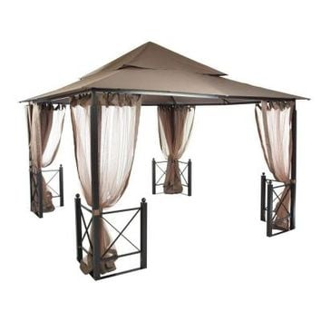 Hampton Bay 12 ft. x 12 ft. Harbor Gazebo-GFS01250A - The Home Depot
