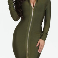 Koko Bandage Dress - Olive
