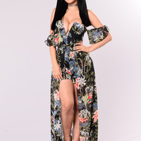 Flower Garden Magic Dress - Black